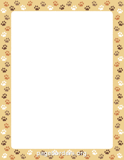 Cat border clipart free picture stock Cat Paw Print Border: Clip Art, Page Border, and Vector Graphics picture stock