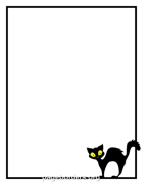 Cat border clipart free image freeuse library Pin by Muse Printables on Page Borders and Border Clip Art | Page ... image freeuse library