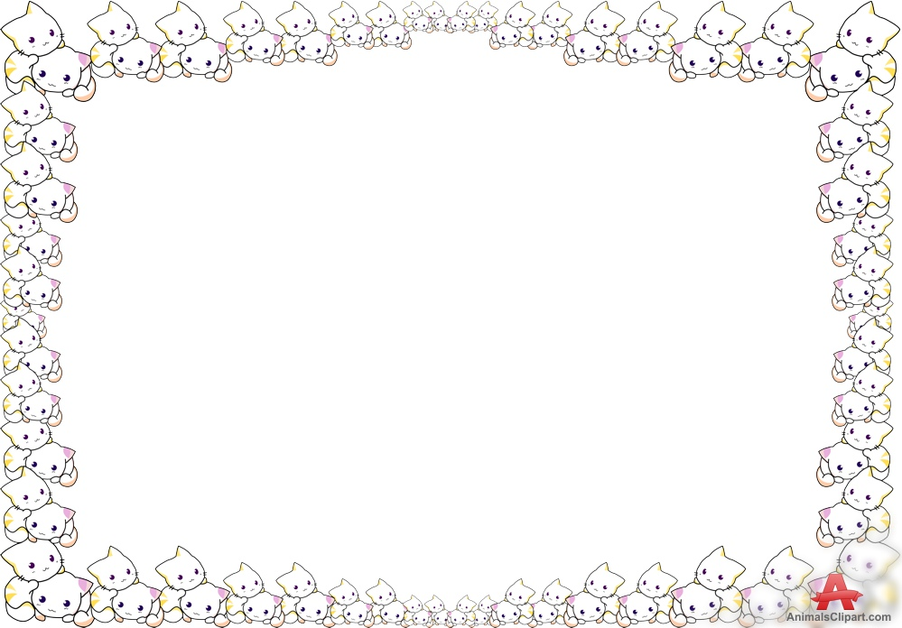 Cat border clipart free svg royalty free Free Cat Cliparts Border, Download Free Clip Art, Free Clip Art on ... svg royalty free