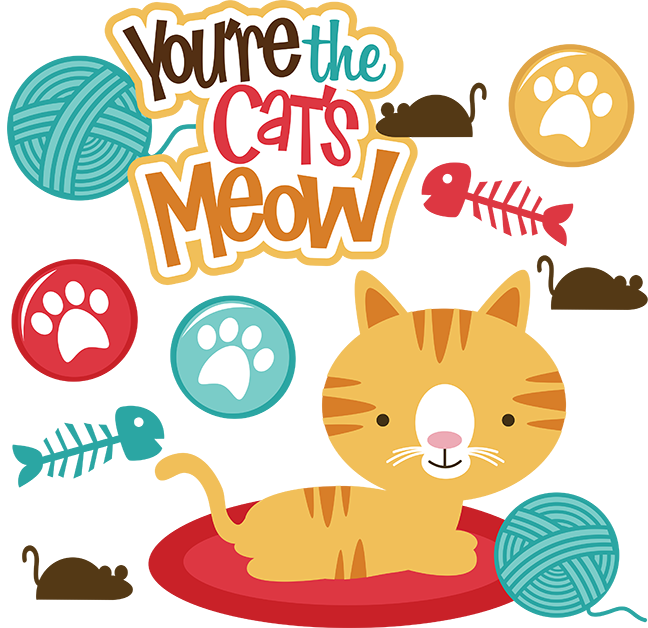 Cat bowling clipart jpg royalty free stock You're The Cats Meow SVG scrapbook file cat svg files cat svg cut ... jpg royalty free stock