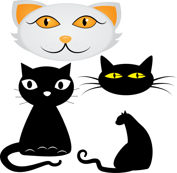 Cat love clipart banner freeuse stock Cats Clip Art at Clker.com - vector clip art online, royalty free ... banner freeuse stock