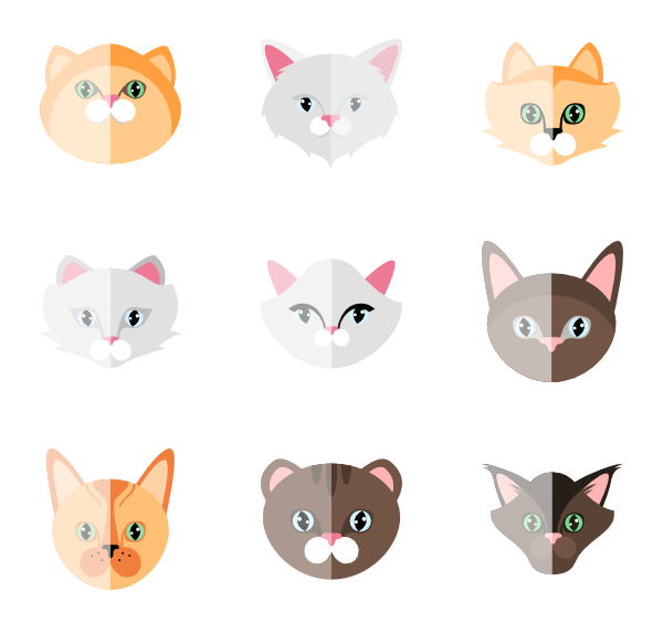 Cat breed clipart pack png black and white library 12 cat animal icon packs - Vector icon packs - SVG, PSD, PNG, EPS ... png black and white library