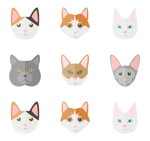 Cat breed clipart pack vector freeuse download 30 cat icon packs - Vector icon packs - SVG, PSD, PNG, EPS & Icon ... vector freeuse download