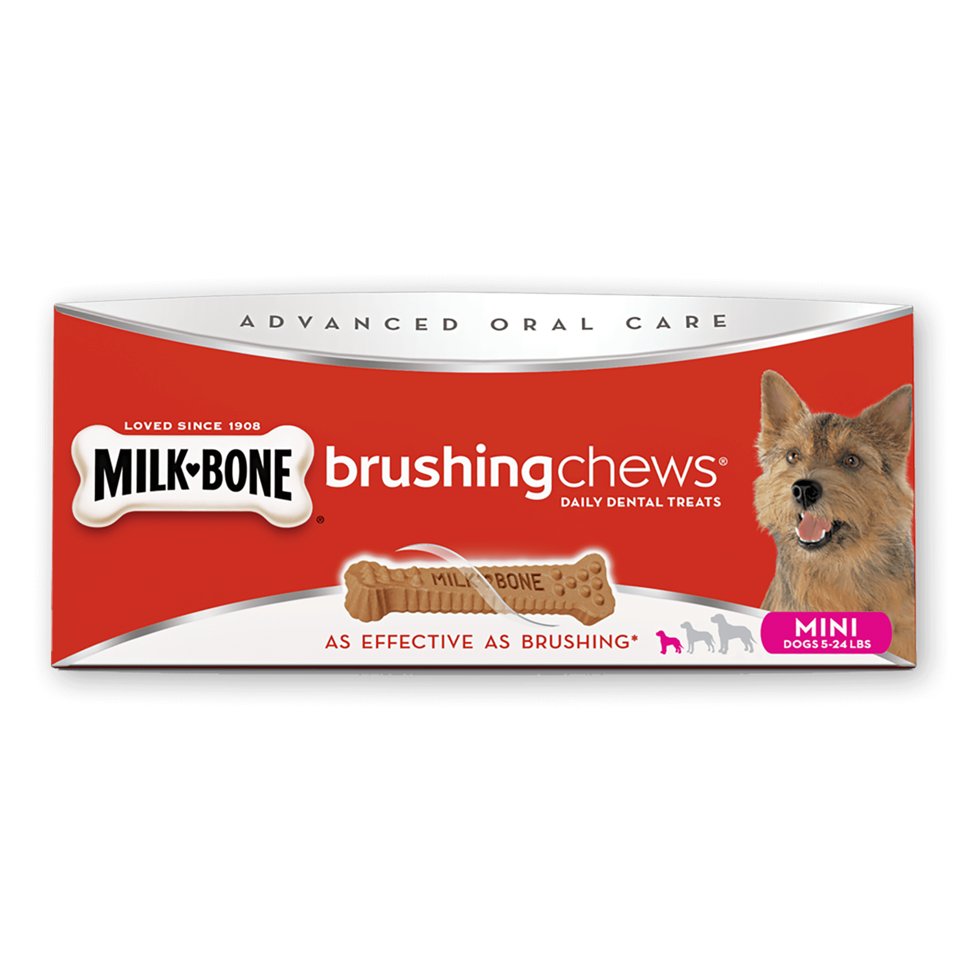 Cat brushing teeth clipart graphic royalty free Brushing Chews®: Dog Dental Treats for Strong Bones | Milk-Bone® graphic royalty free