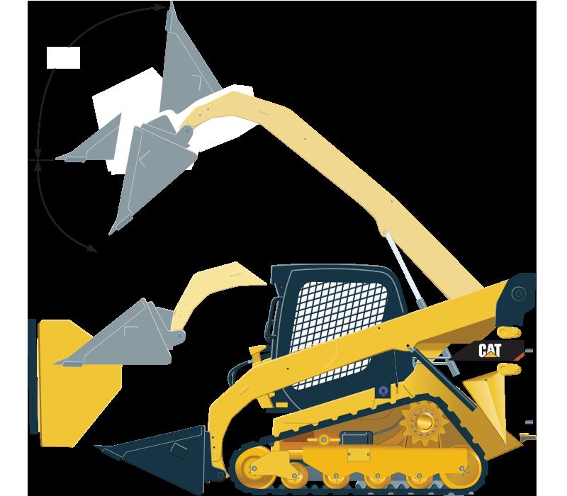 Cat bulldozer clipart clip art library library 249DAC Compact Track Loader clip art library library