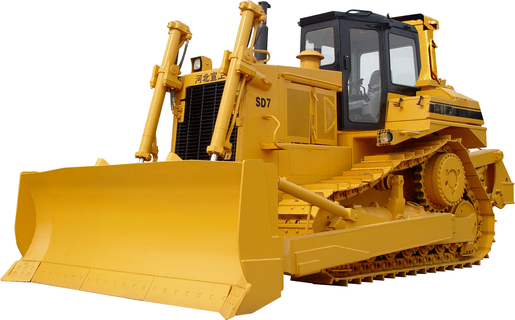 Cat bulldozer clipart black and white Bulldozer SD7 PNG Image - PurePNG | Free transparent CC0 PNG Image ... black and white