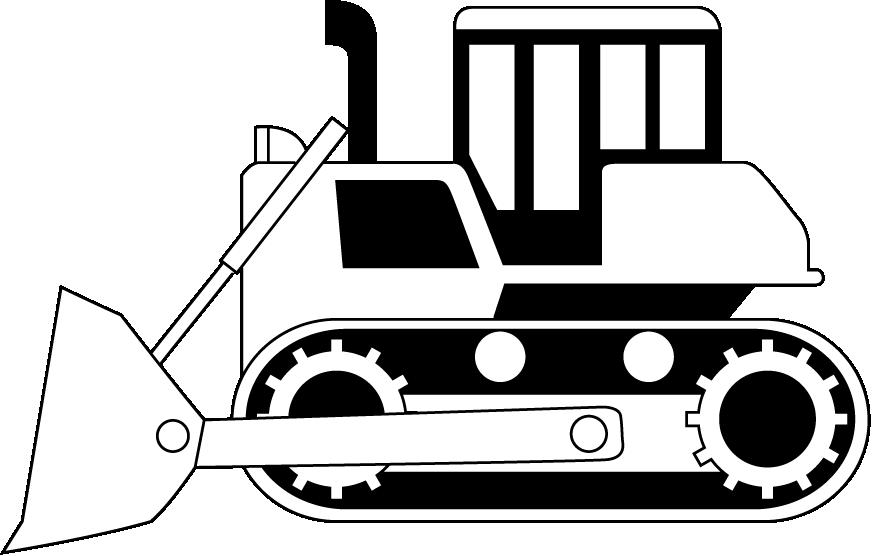 Cat bulldozer clipart black and white clip art library Dozer clipart - Clipground clip art library