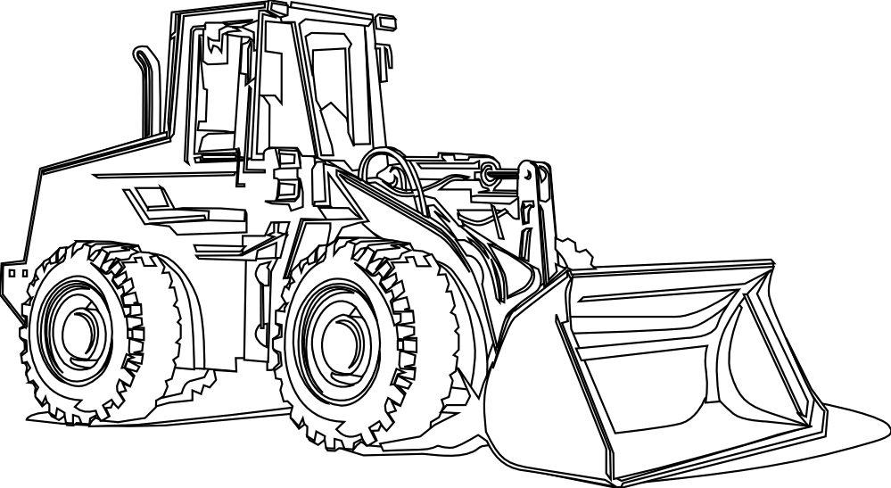Cat bulldozer clipart black and white svg transparent Caterpillar equipment coloring pages svg transparent