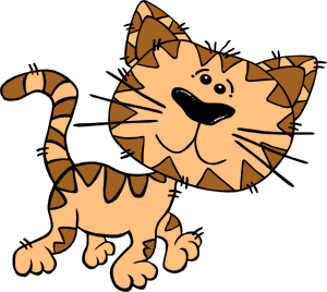 Cat walk clipart