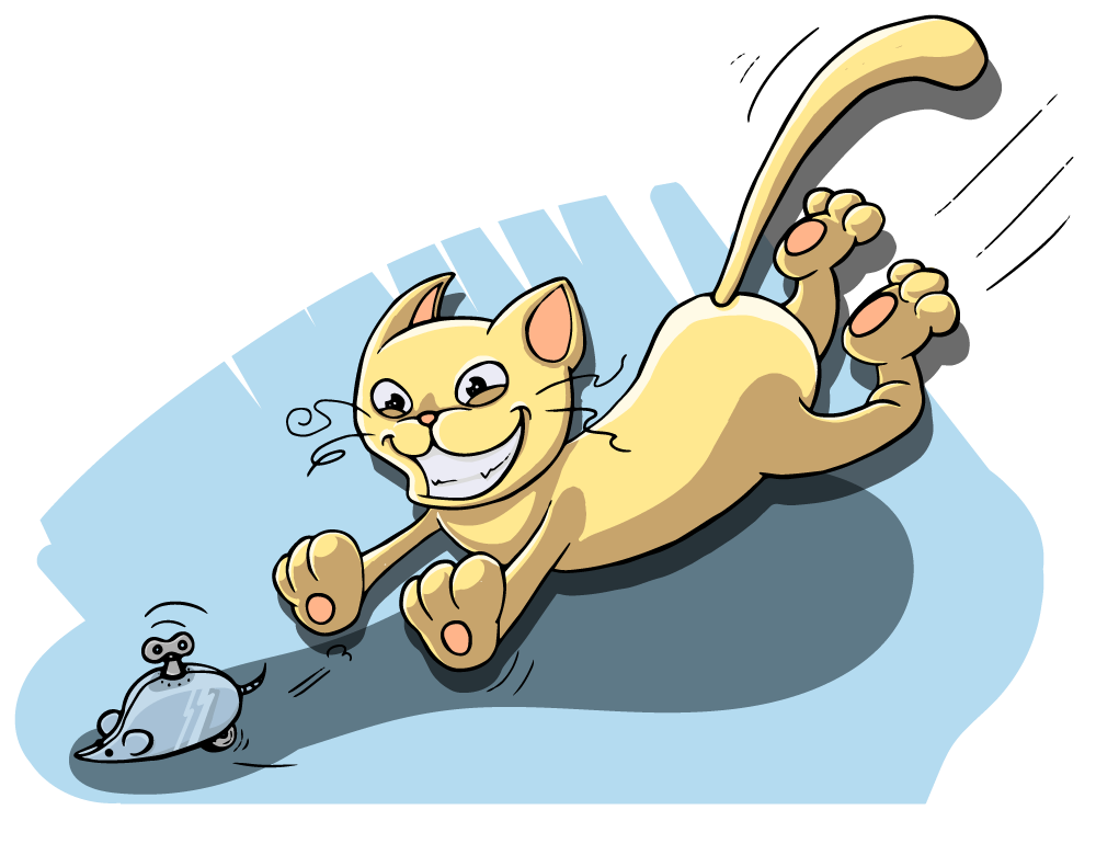Cat chasing a mouse clipart picture transparent Cat chasing mouse clipart - Clip Art Library picture transparent