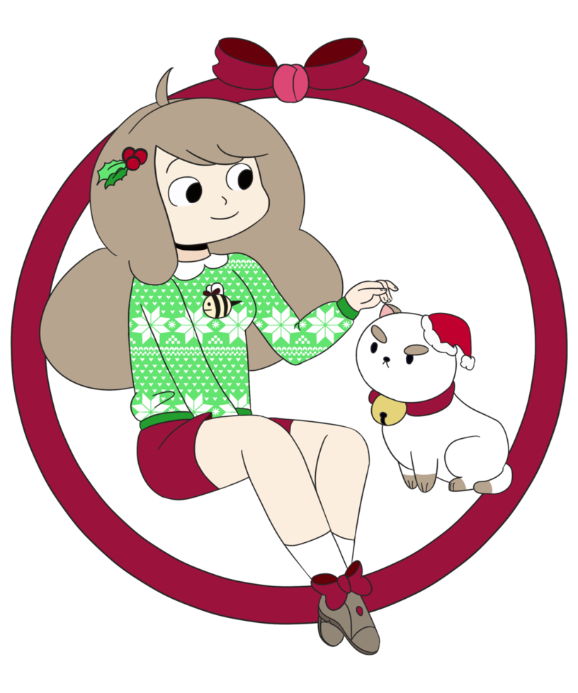 Cat christmas clipart graphic transparent library Bee and Puppycat's christmas by Jemma-the-human on DeviantArt graphic transparent library