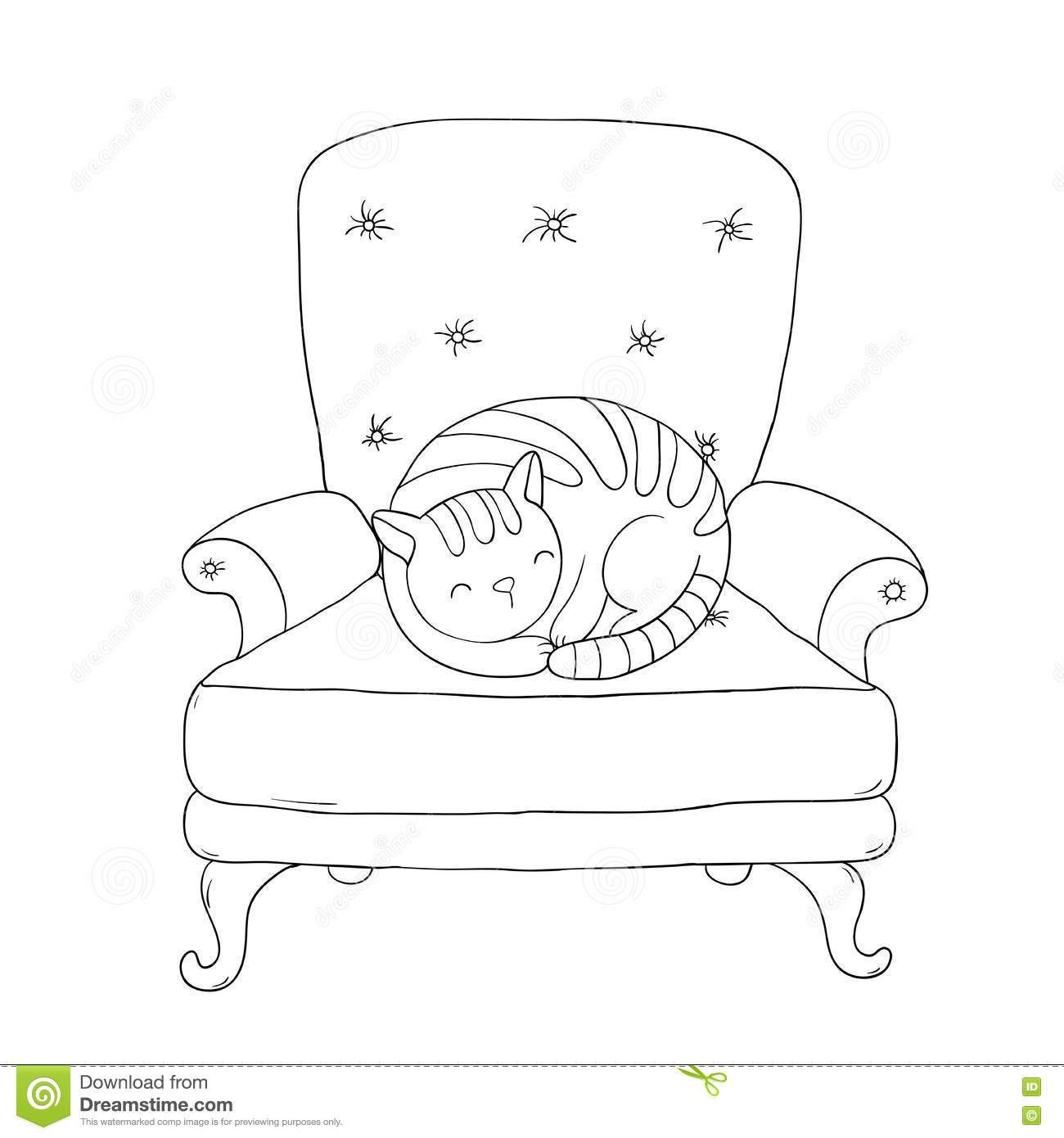 Cat climbing structure clipart black and white clip art royalty free stock Cat under the chair clipart black and white 2 » Clipart Portal clip art royalty free stock