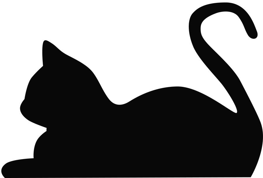 Cat climbing structure clipart black and white vector download Cat Silhouette\'s | crafts | Cat silhouette, Cats, Silhouette art vector download