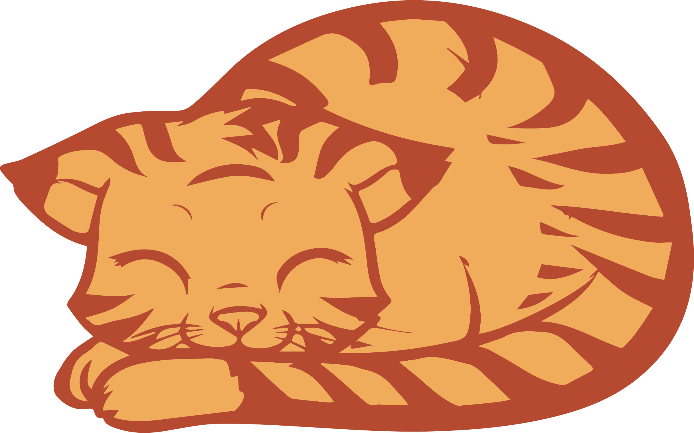 Cat clipart sleeping vector transparent Download Sleeping Cat Clipart Png | Clipartly.com vector transparent