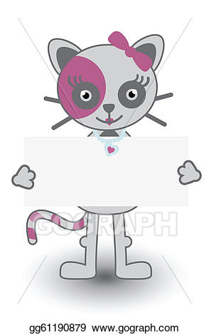 Cat clipart banner svg transparent library Vector Art - Cat banner. EPS clipart gg61190879 - GoGraph svg transparent library