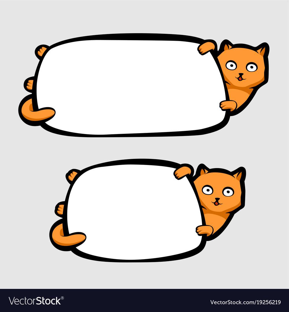 Cat clipart banner picture transparent stock Cat holding banner picture transparent stock