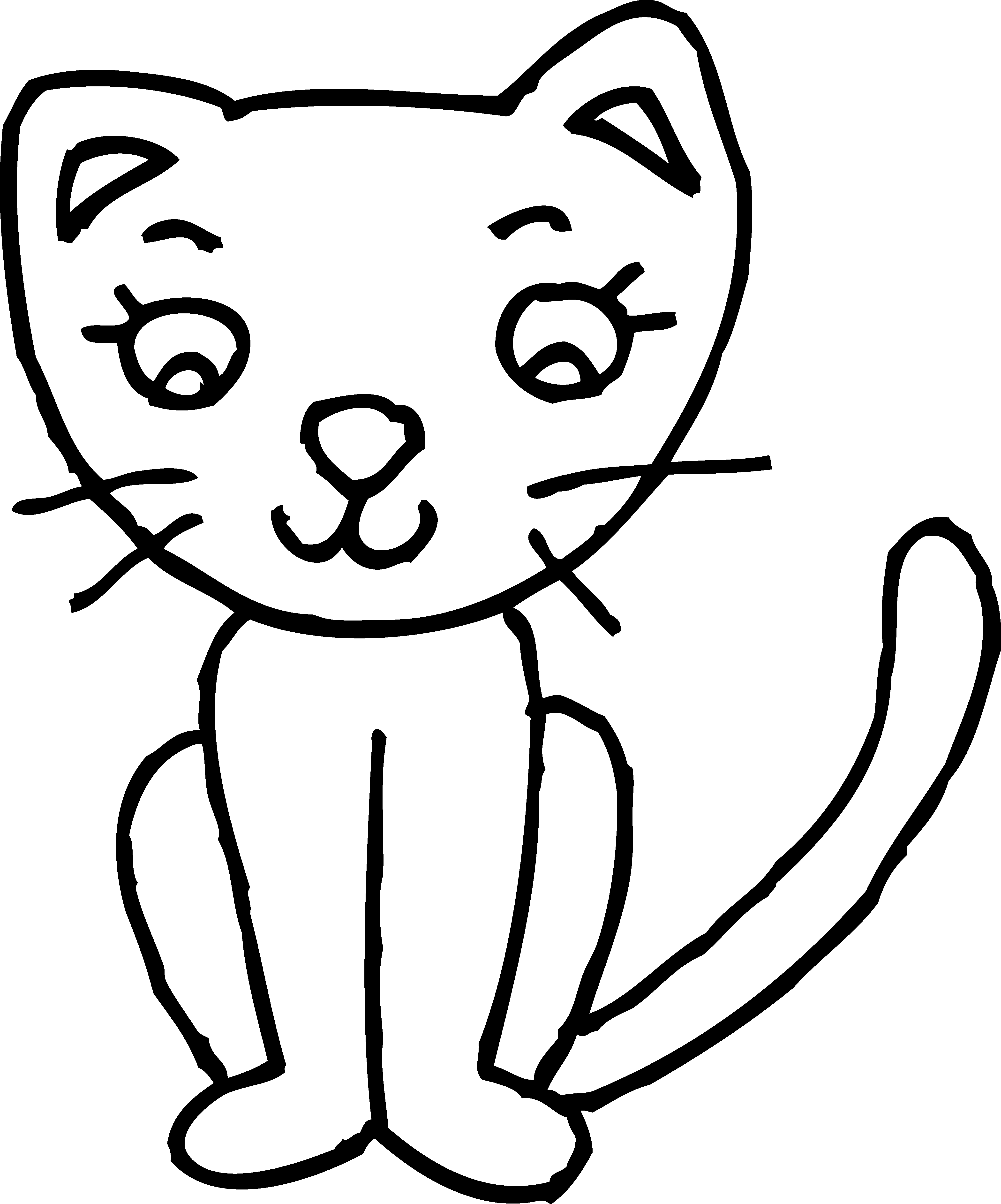 Cat clipart black and white simple image royalty free library Cat Clipart Black And White | Letters Format image royalty free library