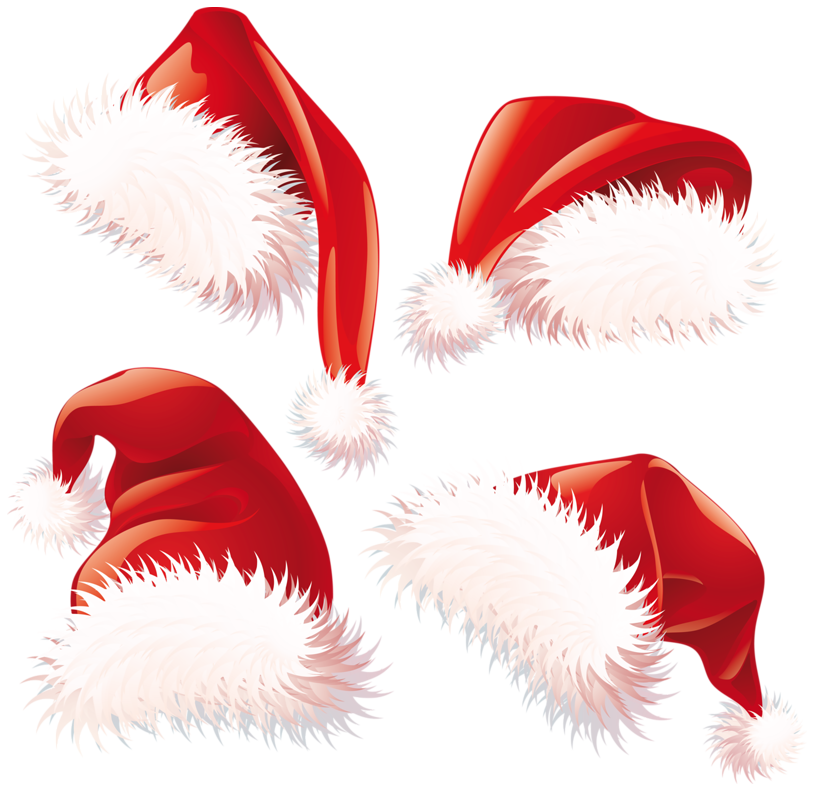 Santa cat clipart vector black and white Transparent Christmas Santa Hats PNG Clipart | Gallery Yopriceville ... vector black and white