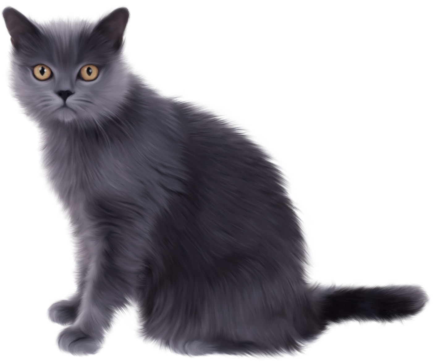 Sitting black cat clipart picture freeuse Black Sitting Cat PNG Image - PurePNG | Free transparent CC0 PNG ... picture freeuse
