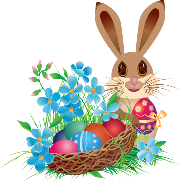 Easter cat clipart. Png bunny with basket