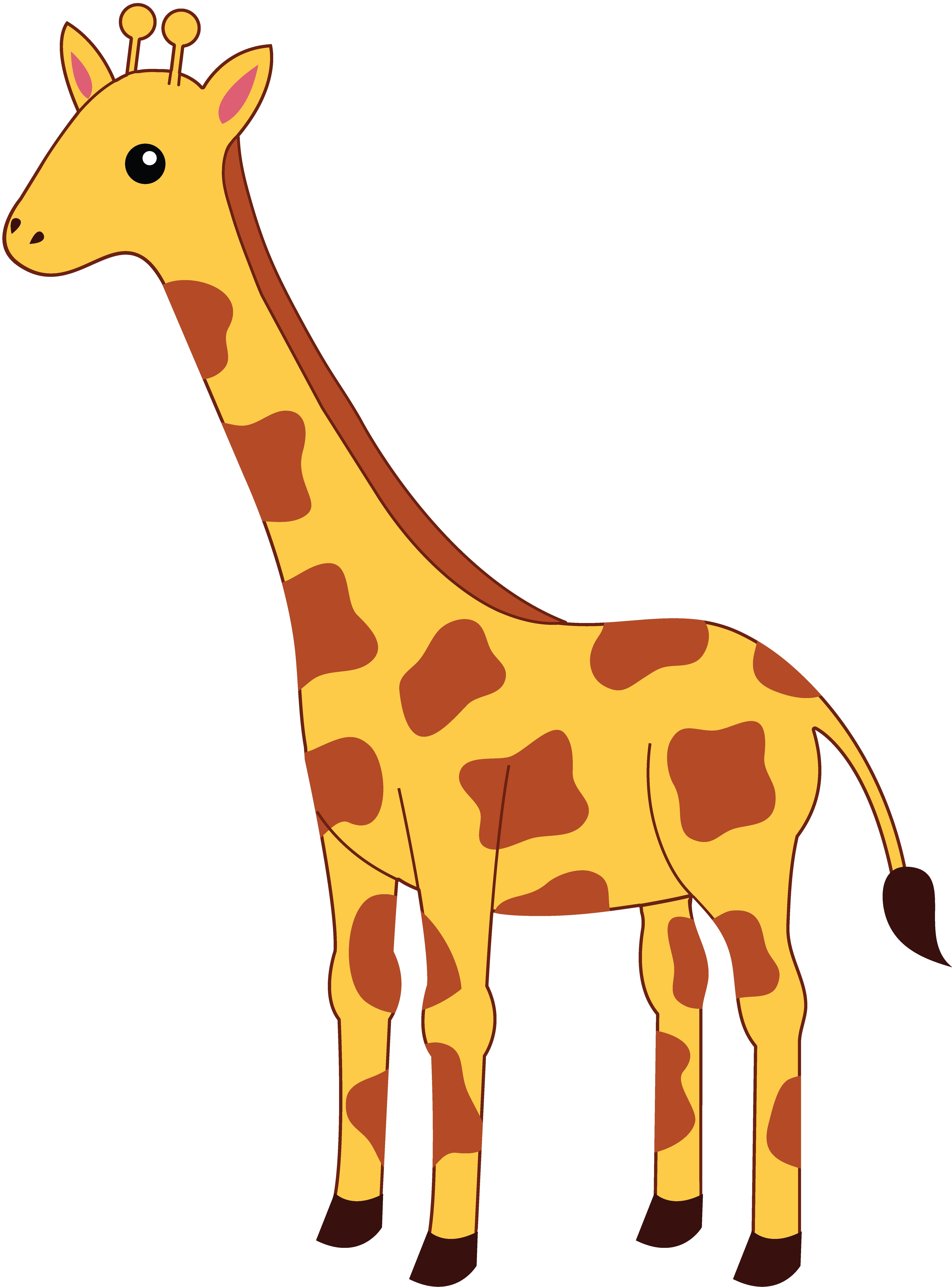 Giraffe heart clipart