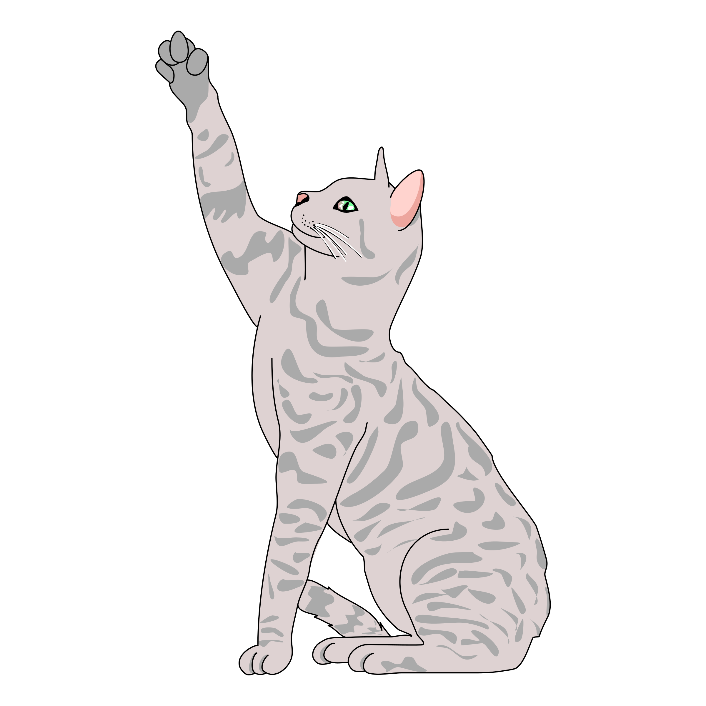 Cat clipart gray clipart royalty free download Clipart - Cat Pose Side clipart royalty free download