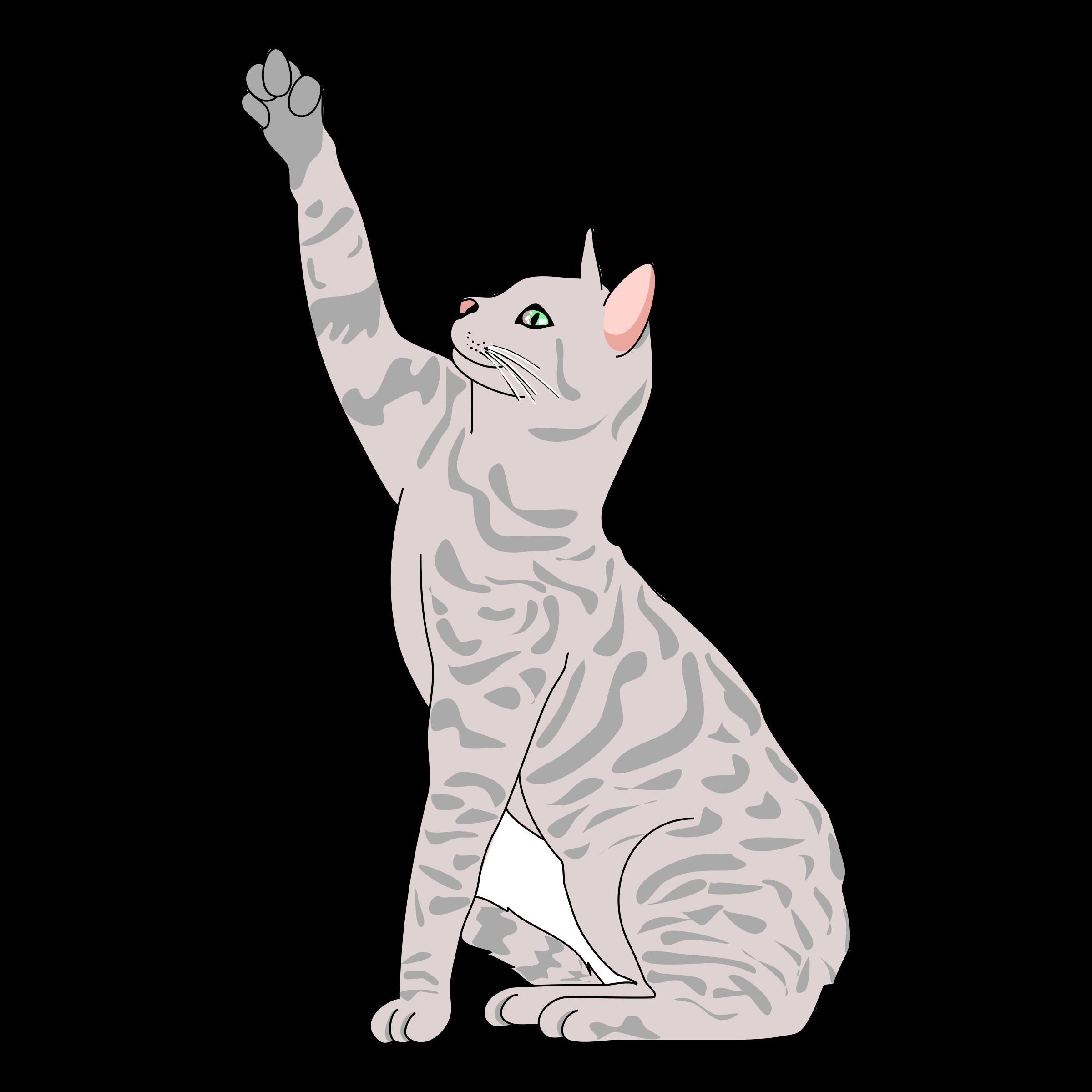 Clipart cat clip Clipart - Cat Pose Side clip