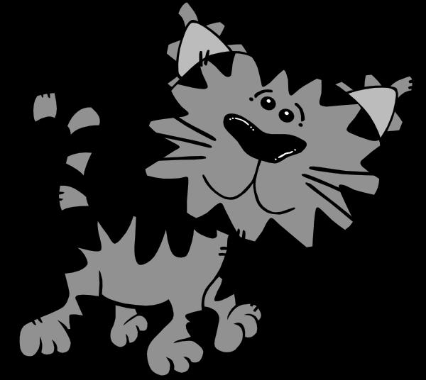 Cat clipart gray jpg free download Cute Cat Clipart - ClipartBlack.com jpg free download