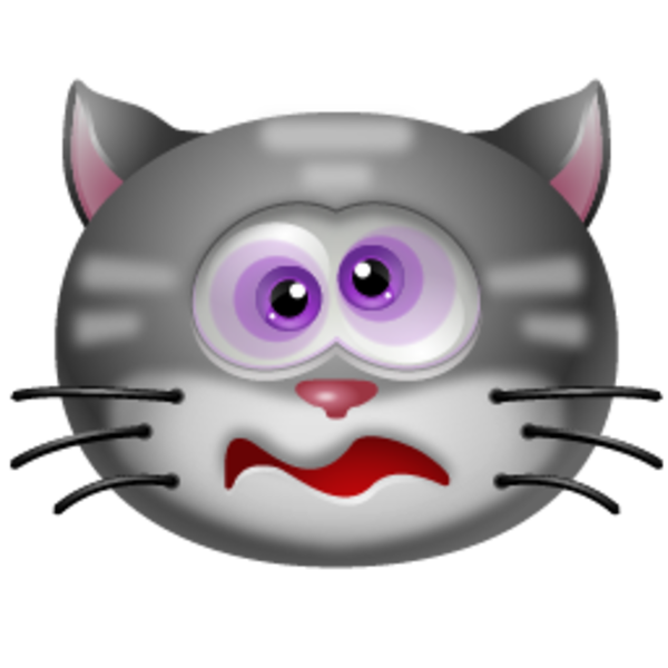 Cat clipart realistic vector free Cat Dizzy Icon | Free Images at Clker.com - vector clip art online ... vector free