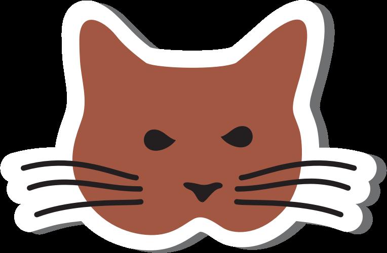 Simple cat clipart image transparent Clipart - Simple Cat Head image transparent