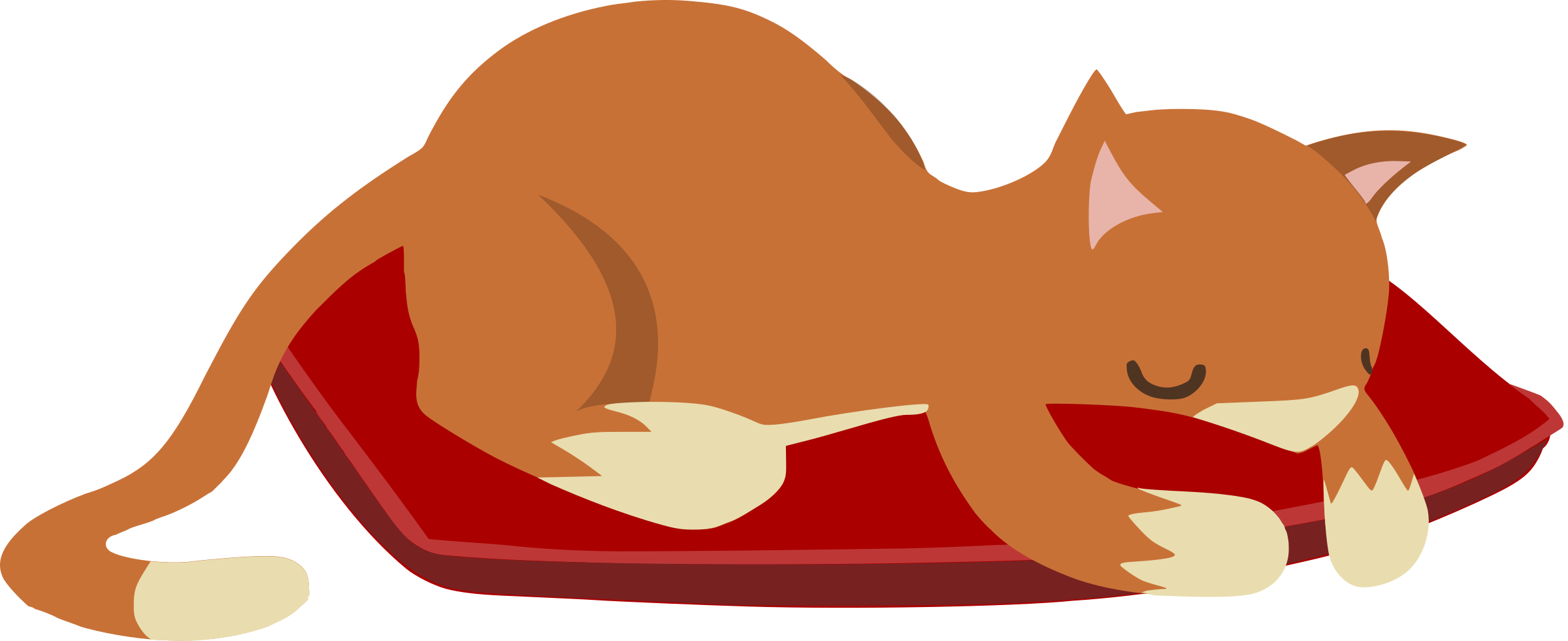 Cat clipart sleeping clip art Clipart - Sleeping cat from Glitch clip art