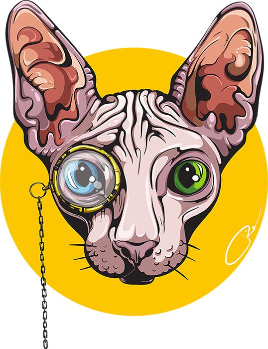 Sphynx cat clipart freeuse library Sphynx Cats on Behance freeuse library