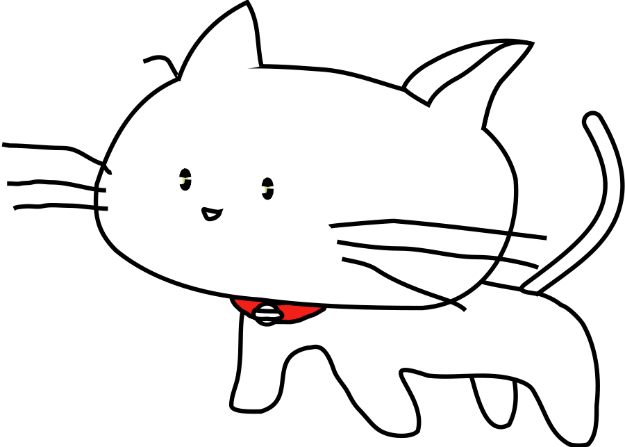 Cat clipart vector clip White Cat SVG Vector file, vector clip art svg file - Clip Art Library clip
