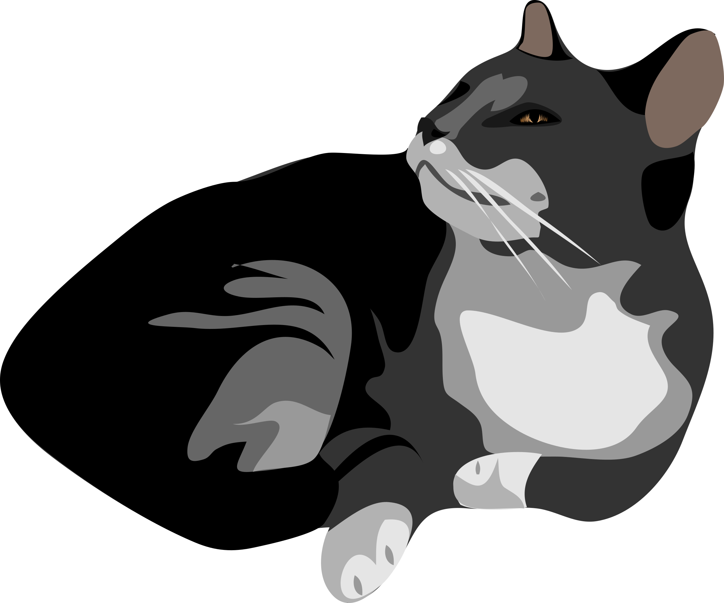 Cat clipart vector graphic free library no black cat clipart - Clipground graphic free library