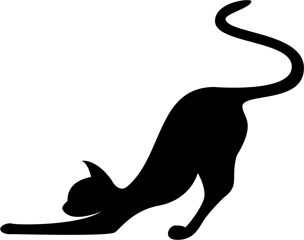 Cat with collar clipart png transparent Cat Stretching Silhouette at GetDrawings.com | Free for personal use ... png transparent