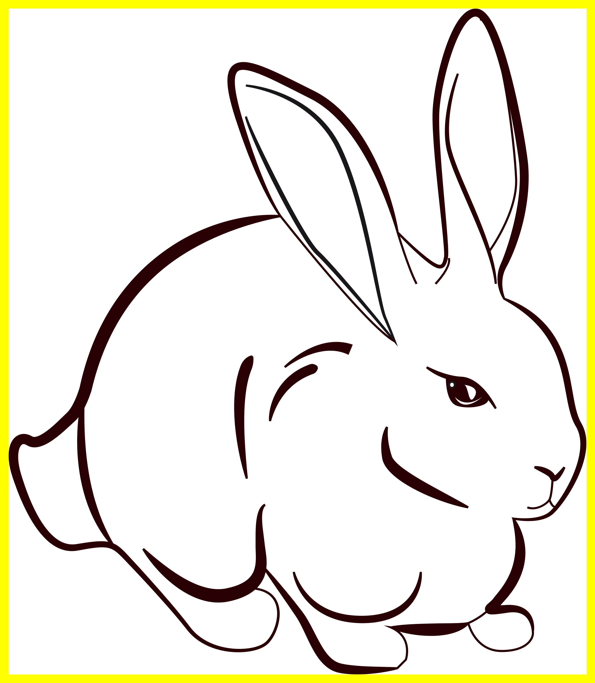 Cat dog and rabbit clipart clip transparent stock Amazing Rabbit Lineart Clipart Image For Line Drawing Trend And ... clip transparent stock