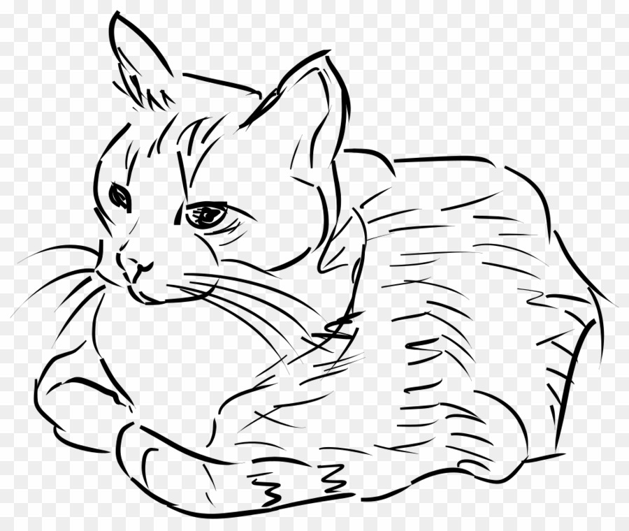 Cat drawing clipart down clip black and white download Cat Sketch Clip Art PNG Cat Drawing Clipart download - 1000 * 841 ... clip black and white download