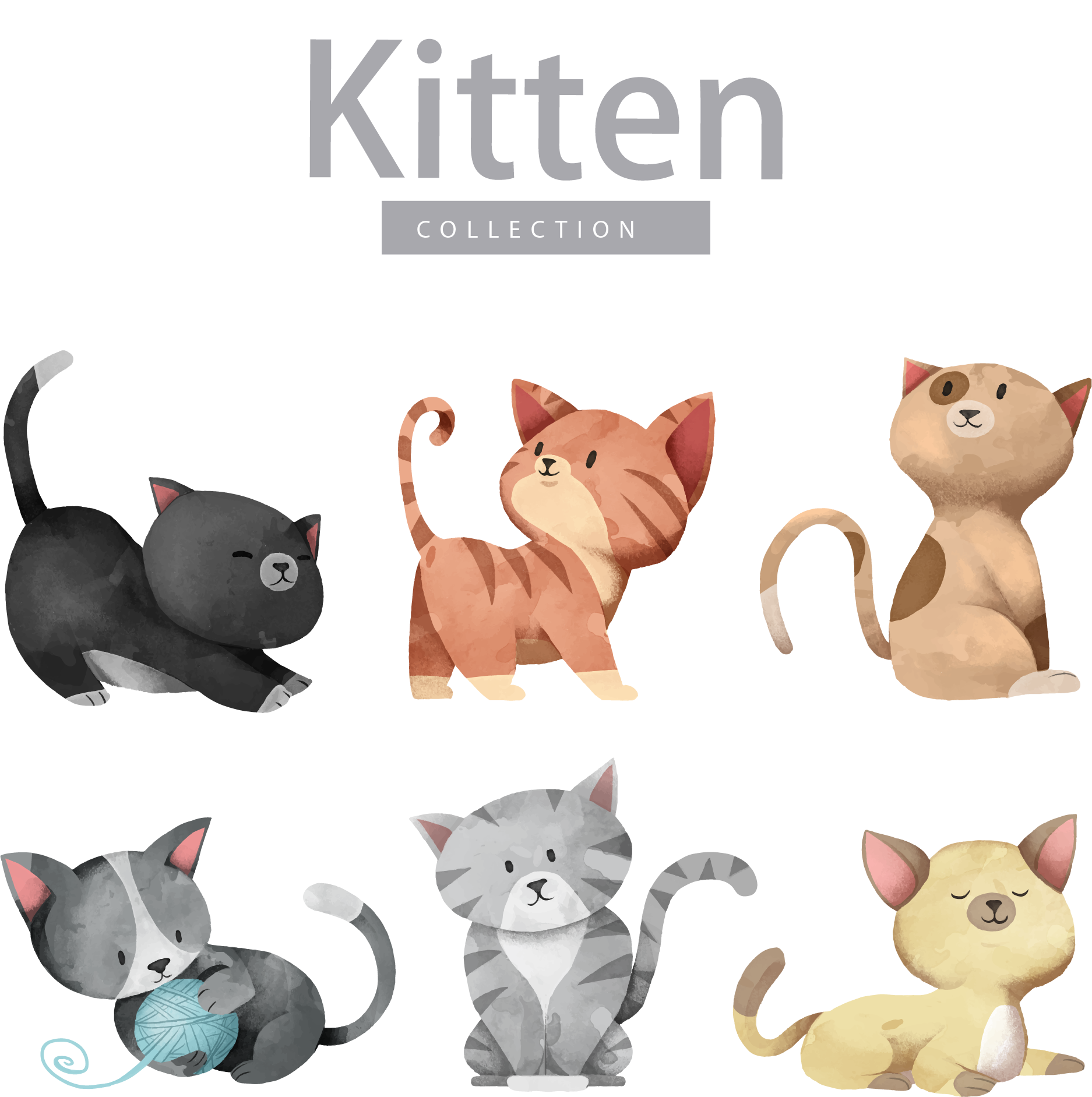 Cat drinking coffee clipart freeuse Cat Dog Kitten Illustration - Cartoon cute cat vector 1874*1883 ... freeuse