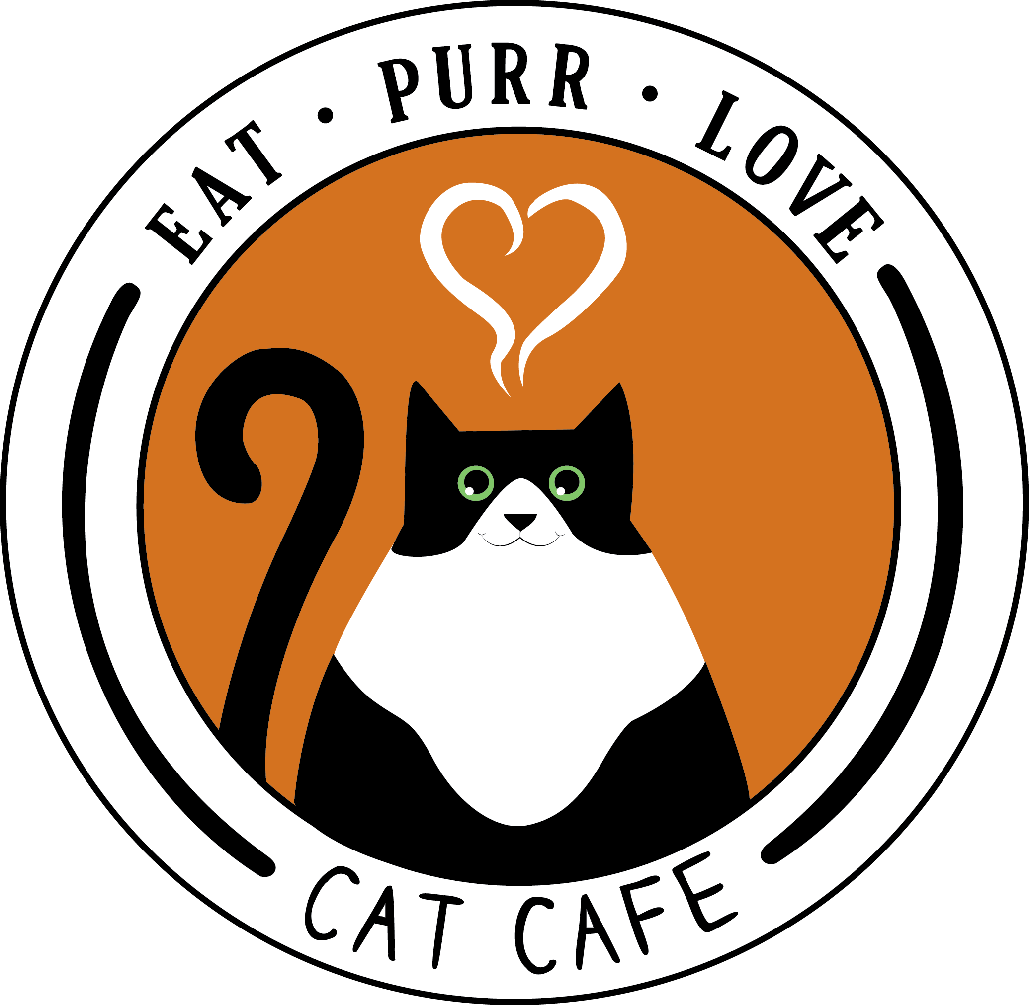 Cat drinking coffee clipart graphic stock Eat Purr Love Cat Café - Central Ohio's first cat cafe graphic stock