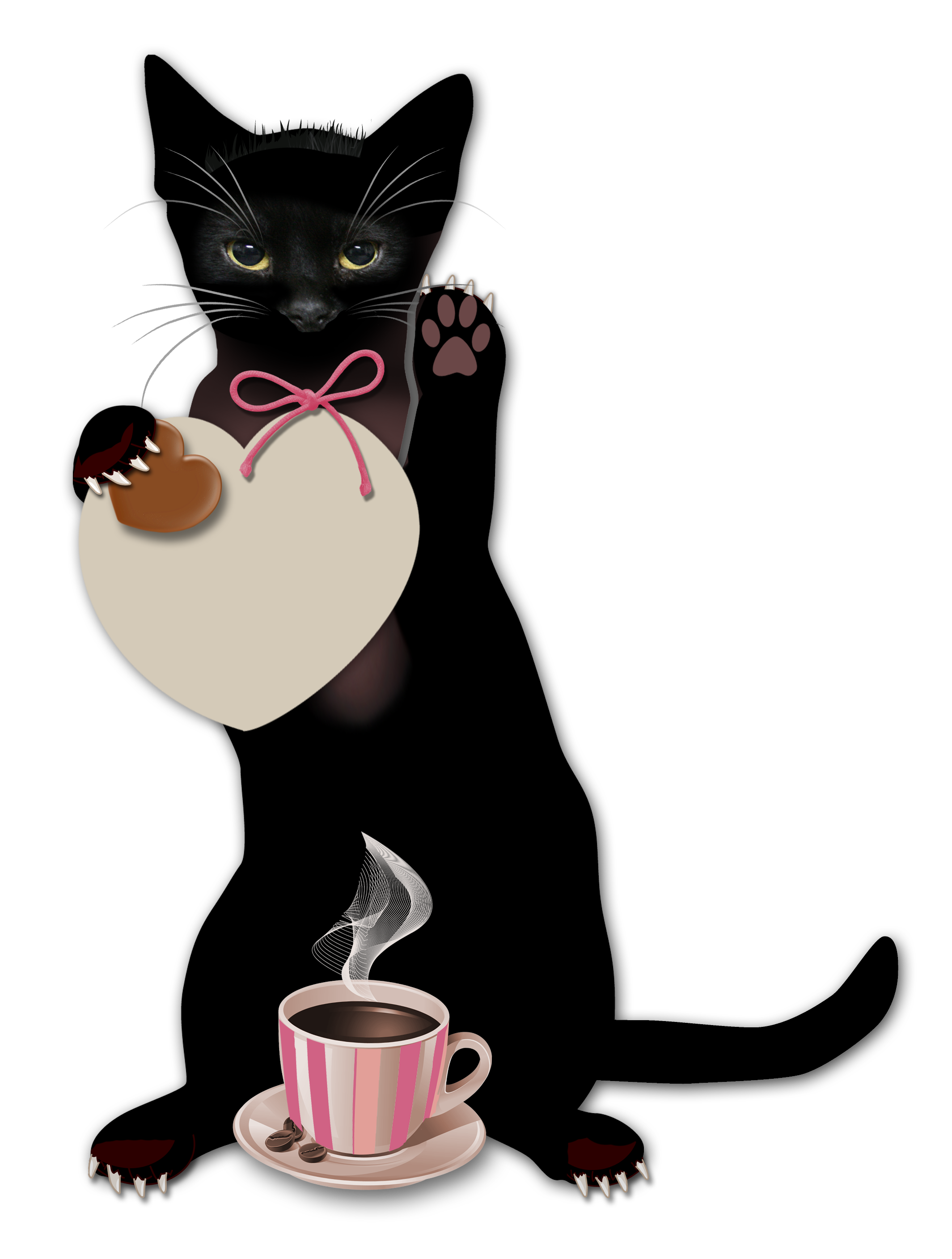 Cat drinking coffee clipart banner library Coffee Cafe Blingee - Witch Cat 2129*2815 transprent Png Free ... banner library