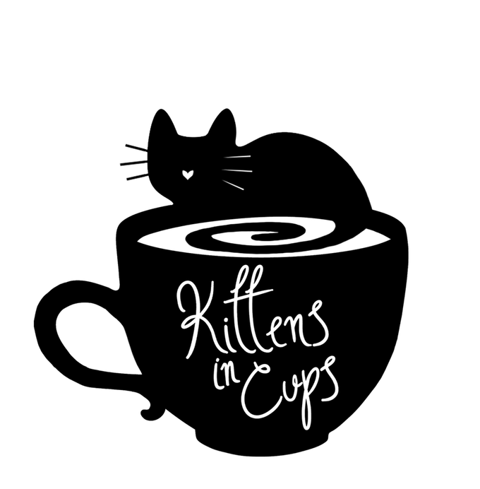 Cat drinking coffee clipart graphic black and white download Kittens In Cups- Annapolis Cat Cafe by Hailey Taylor — Vist our ... graphic black and white download