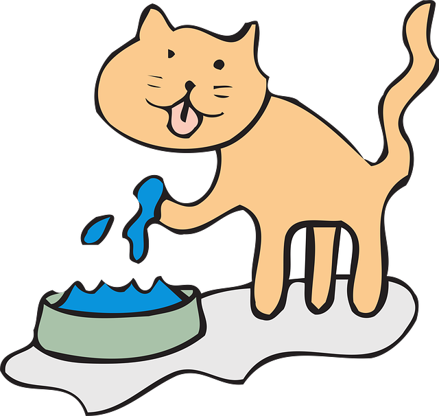 Cat drinking milk clipart free Why Cats Drink Water With Their Paw? - This Curiosity Of Cats And More free