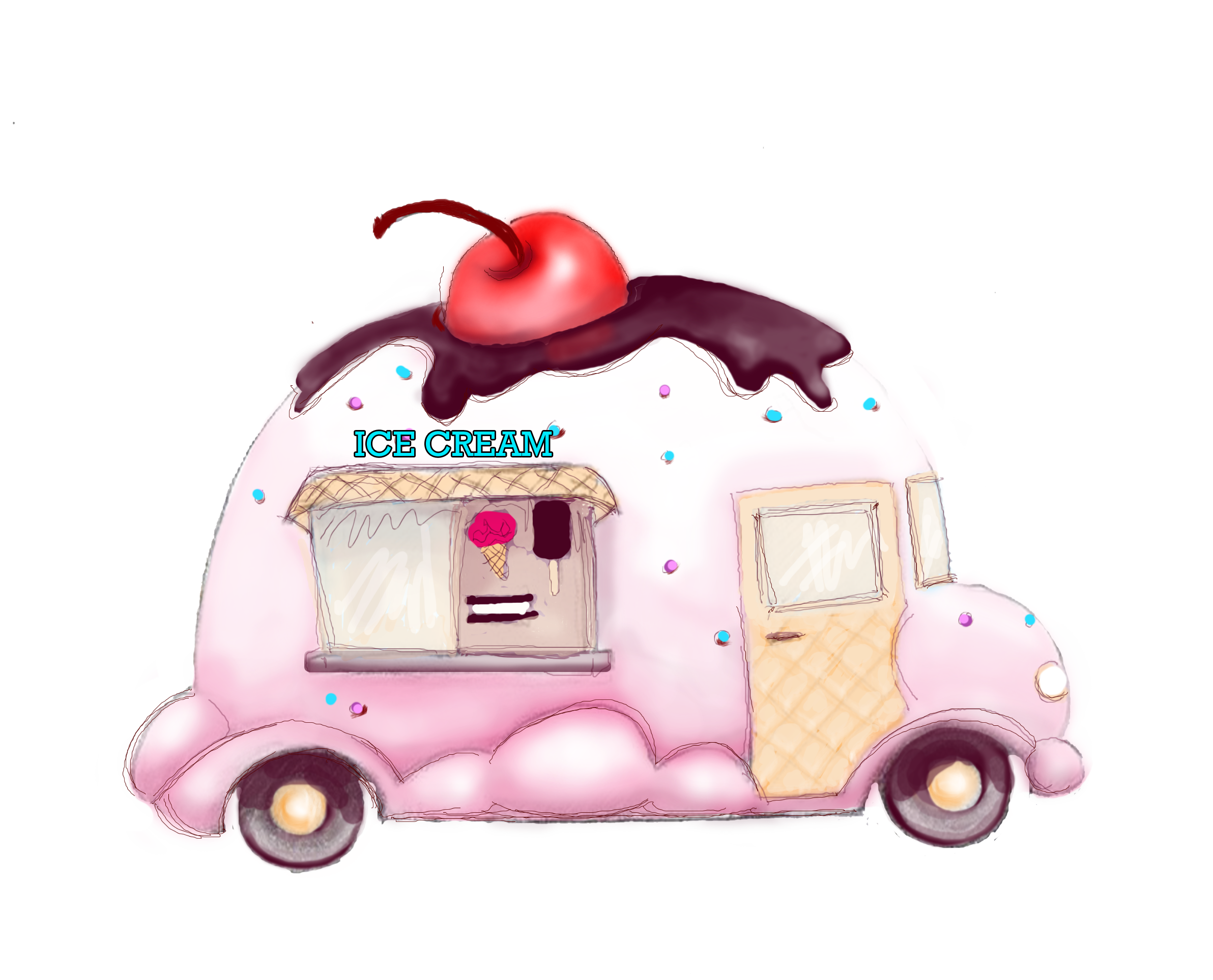 Cat dump truck clipart jpg freeuse Ice Cream art | Ice+cream+truck+clip+art | clip art | Pinterest ... jpg freeuse