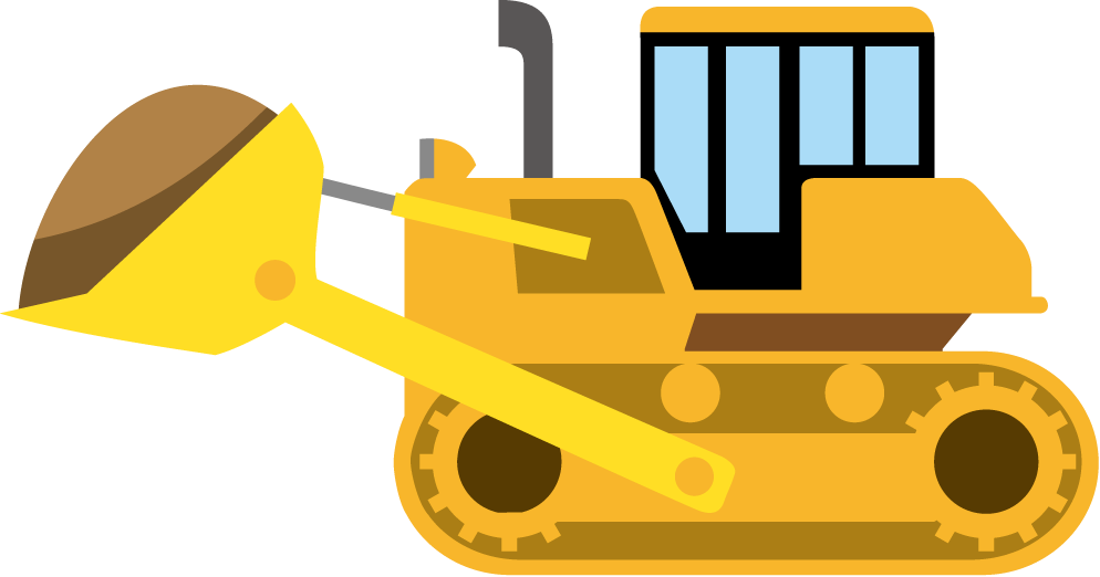 Cat dump truck clipart image free library 28+ Collection of Construction Clipart Transparent | High quality ... image free library