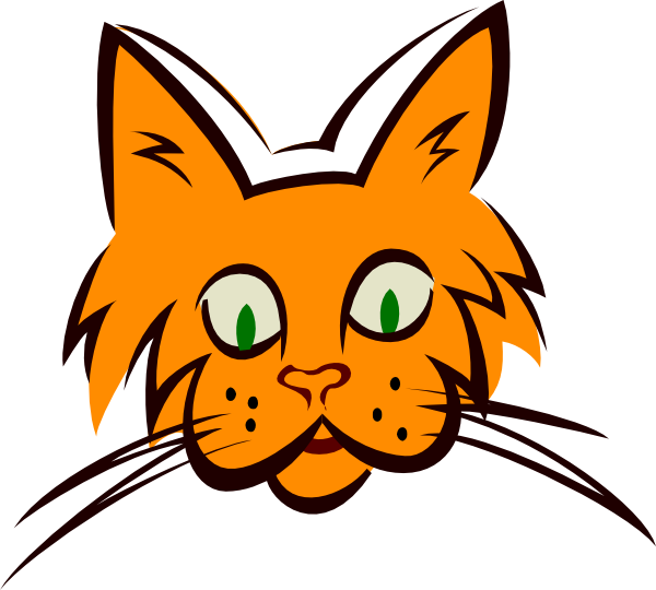 Cat woman mask clipart clipart library stock Orange Cat Face Clip Art at Clker.com - vector clip art online ... clipart library stock