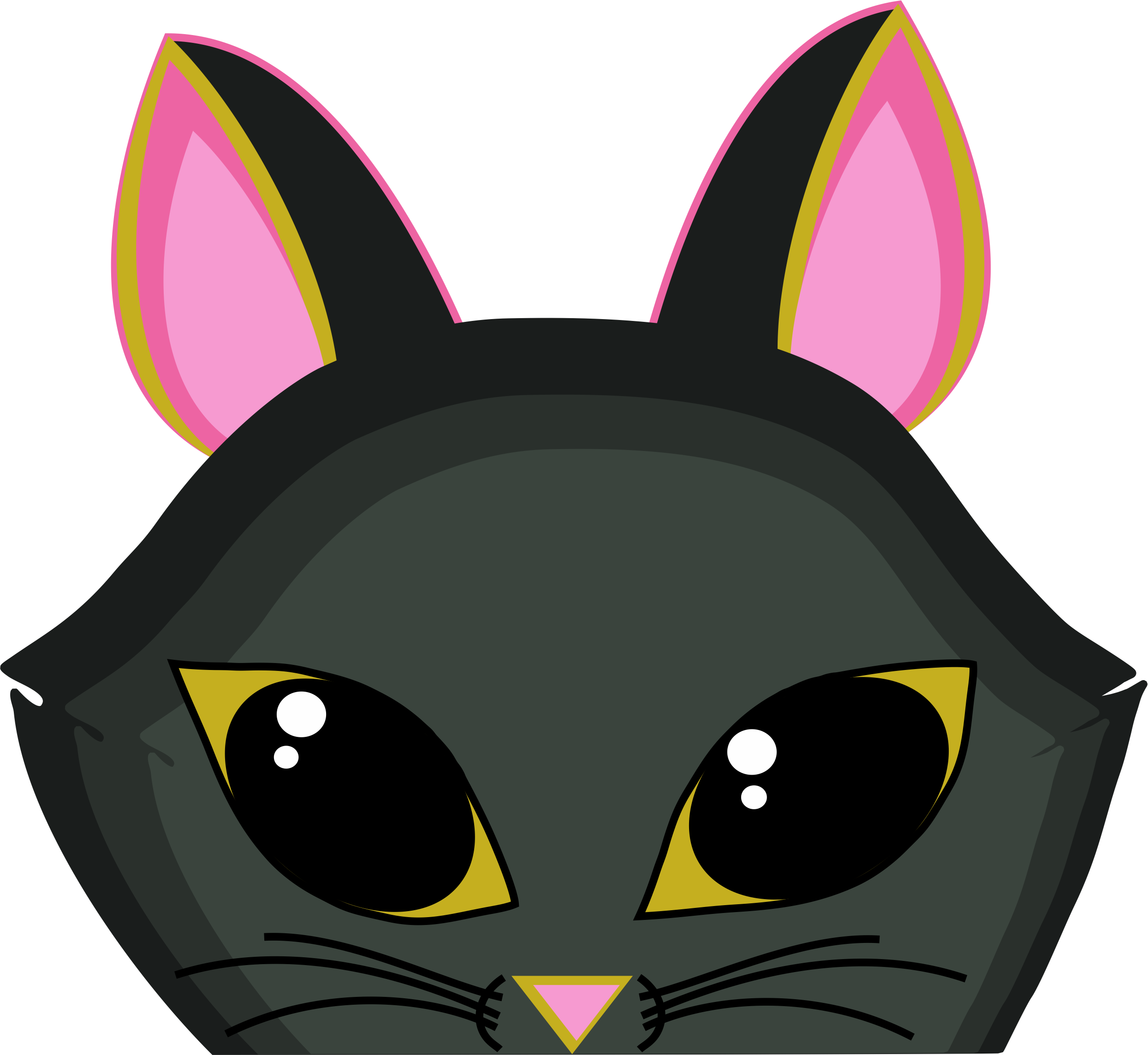 Cat ears and whiskers clipart graphic free Waiting Cat - Corel Discovery Center graphic free