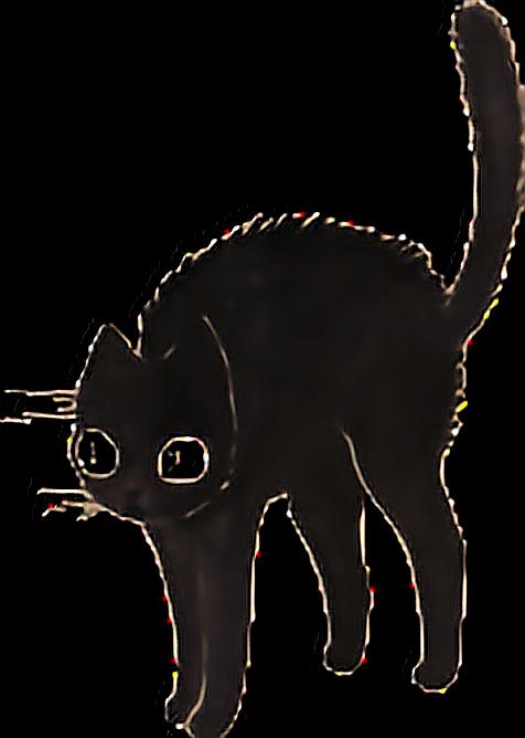 Cat enter sign clipart graphic free stock cat cats black blackcat dark tumblr sticker... graphic free stock