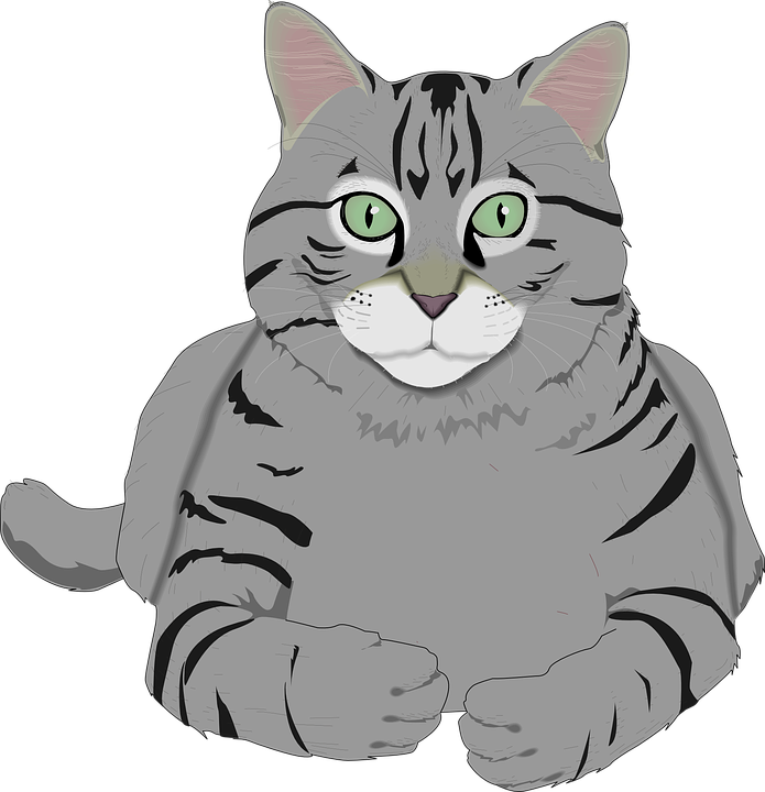 Tiger cat clipart clip black and white Free Image on Pixabay - Cat, Kitty, Gray, Tiger, Tabby, Pet | Kitty ... clip black and white