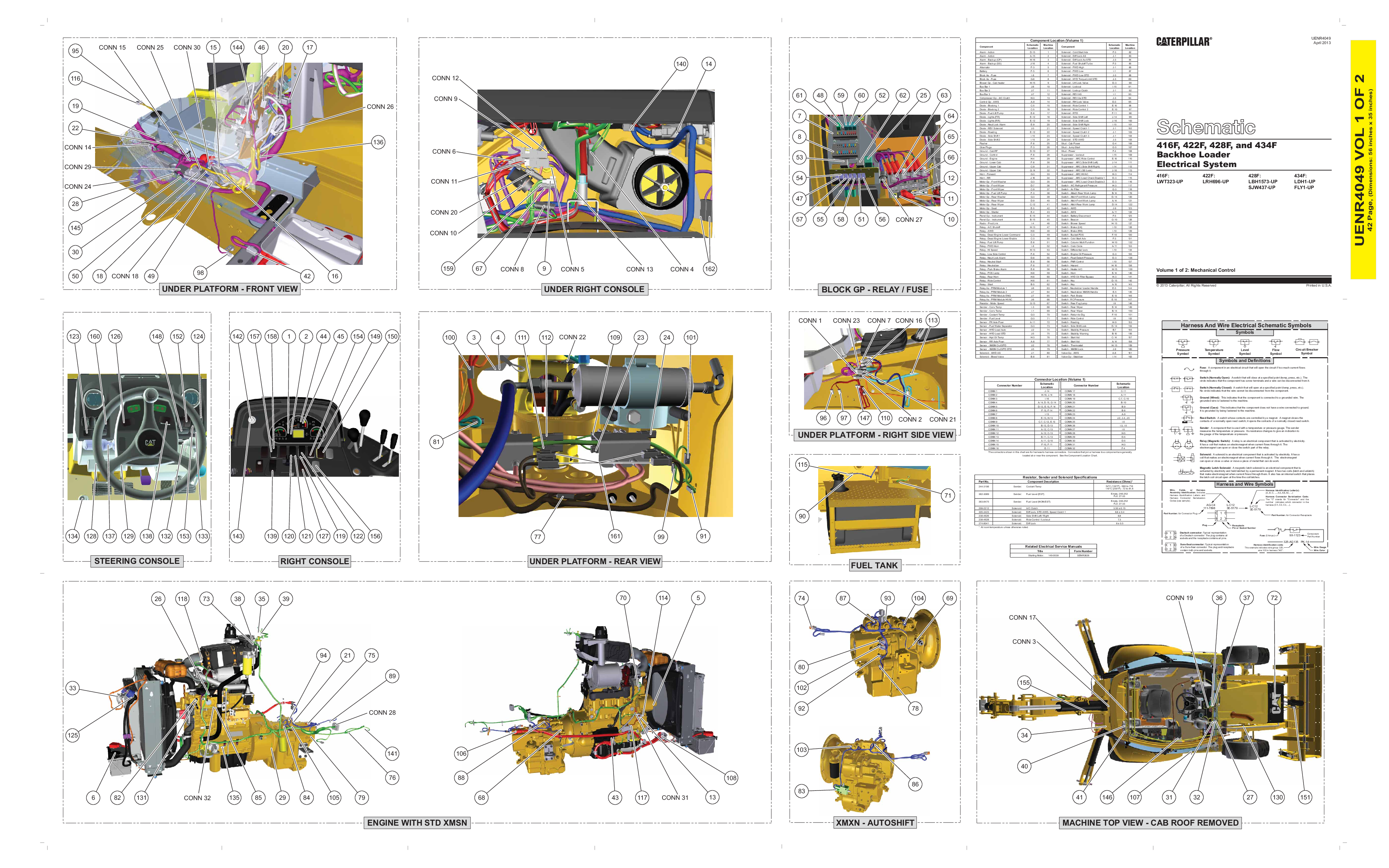 Cat excavator clipart picture royalty free download CATERPILLAR BACKHOE LOADER 428F picture royalty free download