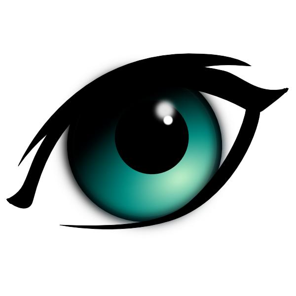 Cat eye clipart jpg freeuse animated eyes | Blue Cartoon Eye clip art | set design and costumes ... jpg freeuse